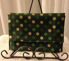 Washable Handmade Fabric Wallet w/ RFID Chip by reKlaimingKathy