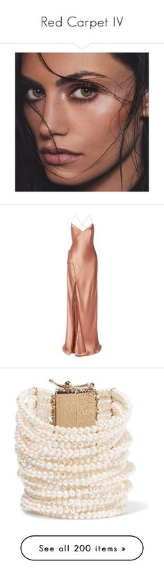 """""""Red Carpet IV"""" by pocahaunted666 ❤ liked on Polyvore featuring people, phoebe tonkin, dresses, gowns, long dresses, vestidos, red rose dress, red wrap dress, open back gown and red open back dress"""