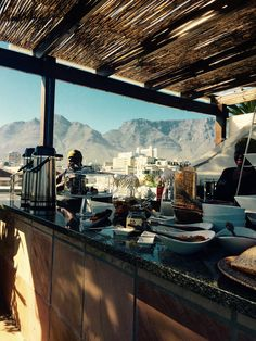 Molo Lolo Lodge Kapstadt Breakfast Rooftop