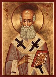 """Saint Athanasius of Alexandria (from Greek, """"immortal"""") was a bishop of Alexandria and major theological writer in the fourth century. He is also called Athanasius the Great and (by the Coptic church) Athanasius the Apostolic;born in 298; died on May 2, 373. His feast day in the Orthodox Church is January 18."""