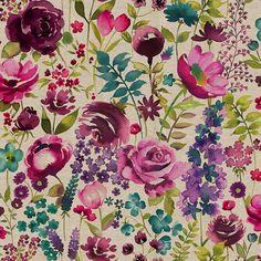 CURTAINS Misty Moors Floral Fabric | Dunelm