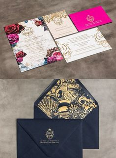 All of your wedding details should express your personality, send a wedding invitation that announces your wedding style. Check out these edgy and striking wedding invitations from BLISS & BONE, tell us what do you think? Invitation Kits, Wedding Invitation Cards, Invitation Design, Wedding Cards, Invites, Classy Wedding Invitations, Mod Wedding, Wedding Paper, Dream Wedding