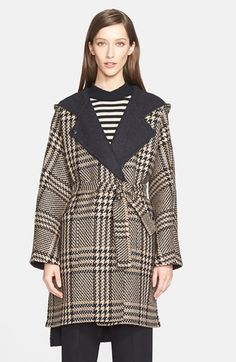 Max Mara 'Alcool' Reversible Wool & Alpaca Hooded Coat with Genuine Mink Trim available at #Nordstrom