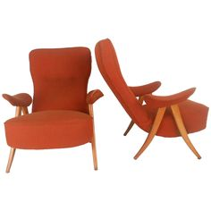 Pair of Mid-Century Modern Artifort Lounge Chairs by Theo Ruth | From a unique collection of antique and modern lounge chairs at https://www.1stdibs.com/furniture/seating/lounge-chairs/