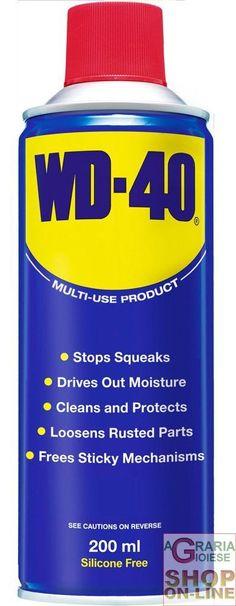 LUBRIFICANTI WD-40 SPRAY ML.200 WD40 http://www.decariashop.it/spray-lubrificanti/9238-lubrificanti-wd-40-spray-ml200-wd40.html