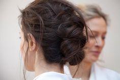 bun braid - so pretty!