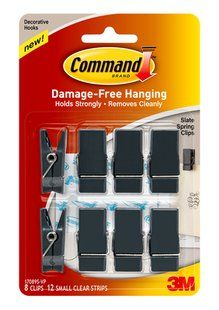 Enough to go around - Command(TM) Spring Clips Value Packs are great to keep on hand.