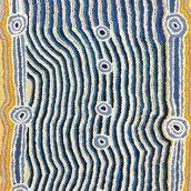 Ngapa Jukurrpa (Water Dreaming) - Wapurtali by Ena Nakamarra Gibson