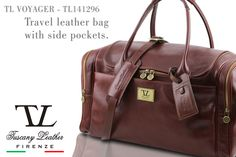 Travel leather bag...your touch of italian style