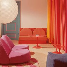Old is gold. One of Kvadrat's first showrooms designed in the early 70s by Nanna Ditzel in her favourite colours pink and turquoise.