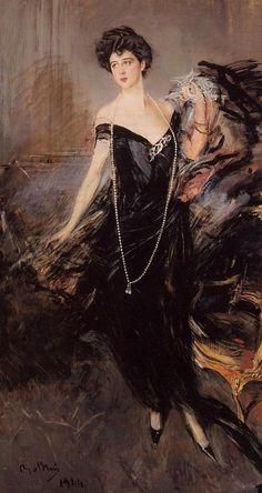 Giovanni Boldini (1842-1931) Portrait of Donna Franca Florio Oil on canvas 1924 Public collection