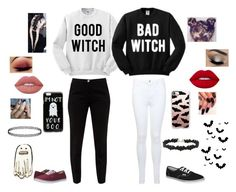 """""""I'm excited for Halloween! 🎃"""" by geekystyler ❤ liked on Polyvore featuring ASOS, Ted Baker, Miss Selfridge, Vans, Casetify and Lime Crime"""
