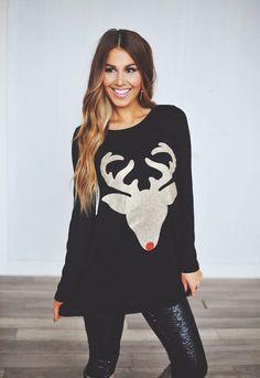 Dottie Couture Boutique - Reindeer Tunic- Black*, $22.00 (http://www.dottiecouture.com/reindeer-tunic-black-1/)