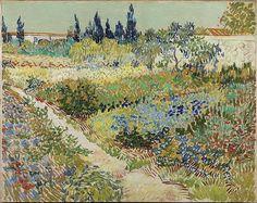 Vincent van Gogh (1853-1890) Tuin te Arles, juli 1888 Olieverf op doek 73 x 92 cm Gemeentemuseum Den Haag.  #KleurOntketend