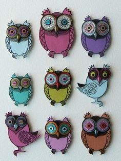 I adore Helen Musselwhite's owls.   I want to do something similar...perhaps with cats?