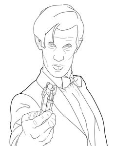 my tom baker doctor who collection of color pages lineart doctor