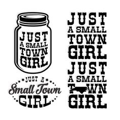 North Carolina State -  Just a small town girl - You get a few different designs and a Mason Jar. Cuttable Design Cut File. Vector, Clipart, Digital Scrapbooking Download, Available in JPEG, PDF, EPS, DXF and SVG. Works with Cricut, Design Space, Sure Cuts A Lot, Make the Cut!, Inkscape, CorelDraw, Adobe Illustrator, Silhouette Cameo, Brother ScanNCut and other compatible software.