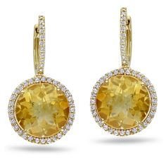 Shop for Miadora Signature Collection Gold Citrine and TDW Diamond Earrings (G-H, Get free delivery On EVERYTHING* Overstock - Your Online Jewelry Destination! Prom Earrings, Gemstone Earrings, Dangle Earrings, Diamond Earrings, Signature Collection, Round Diamonds, Jewelry Watches, Dangles, Bling