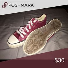 Maroon Converse Worn only once and in good condition! Converse Shoes Sneakers
