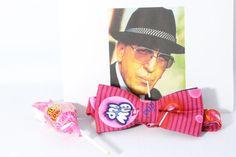 Blow Pop Bow Tie / Hot Pink Lollipop Unisex by AsherTailored