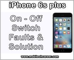 How to Fix ON-OFF Faults in Apple iPhone 6s Plus  http://ift.tt/2f9dLdH