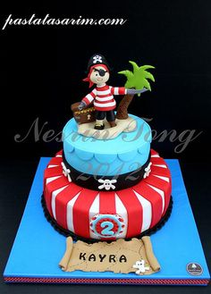 pirates cake (Medium) by CAKE BY NESRİN TONG, via Flickr