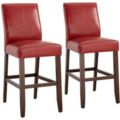 New Red Faux Leather Bar Stools