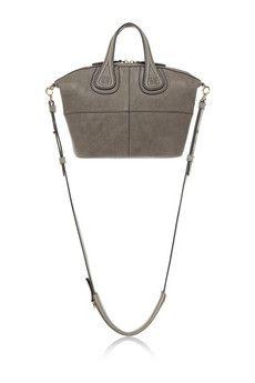 Givenchy Sac Nightingale micro modèle en cuir gris | NET-A-PORTER