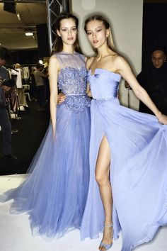 Esther Heesch and Katya Riabinkina backstage at Elie Saab Haute Couture SS 2014
