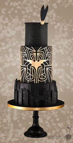 Batman Wedding Cake made by The Little Cherry Cake Company