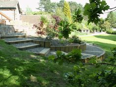 timber paths | ... stone with accrington engineering brick patio, paths and raised beds