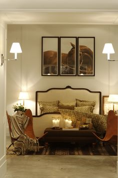 Bedroom from Ralph Lauren Home! I created this corner with pieces from Safari Colonial Collection! Right ideas for luxury living!
