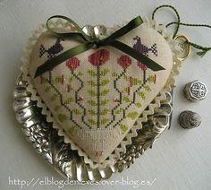 El Blog de Nieves. Labores y Punto de cruz: Feliz San Valentín punto de cruz cross stitch point de croix