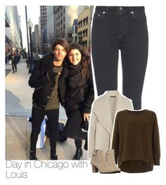 """""""Day in Chicago with Louis"""" by liamismybabe ❤ liked on Polyvore featuring Yves Saint Laurent, James Perse, French Connection, women's clothing, women, female, woman, misses, juniors and OneDirection"""
