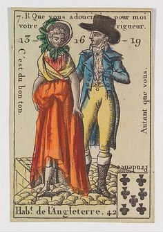 Hab.t de l'Angleterre from Playing Cards (for Quartets) 'Costumes des Peuples Étrangers'