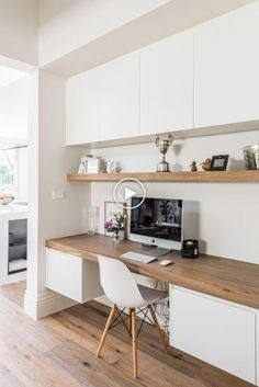 49 Stunning Small Home Office Furniture Design Ideas Home Office Furniture Design, Home Office Space, Office Interior Design, Home Office Decor, Office Interiors, Interior Design Inspiration, Home Decor, Office Ideas, Office Nook