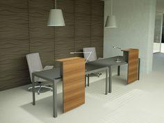 Balcão de recepção de madeira MORE | Balcão de receção de madeira By ESTEL GROUP