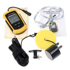 SODIAL(R) Portable Fish Finder with Round Sonar Sensor LCD display with LED back-lighting >>> Read more reviews of the product by visiting the link on the image.