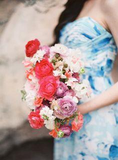 Ranunculus bouquet: http://www.stylemepretty.com/little-black-book-blog/2015/03/26/colorful-spring-botanical-gardens-wedding-inspiration/ | Photography: Lauren Gabrielle - http://laurengabrielle.com/