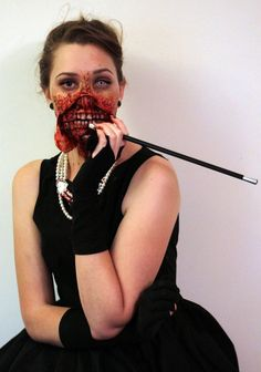 Zombie Audrey Hepburn costume. I've been wanting to do this costume for aaaaages.