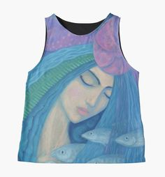 """""""The Pearl, Mermaid Princess, underwater fantasy art"""" Contrast Tanks by clipsocallipso 