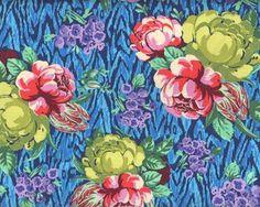 Patchworkstoff HAPI TAPESTRI ROSE mit Rosen, fuchsia-olivegrün-blau