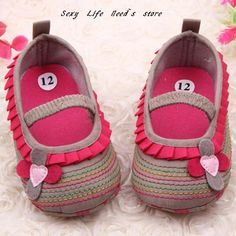 Cotton Cloth First Walker Four-Flower Baby Girl Striped Sole Shoes for Kids Cute Toddler Shoe Free Shipping -  100% Brand New & High Quality! Material: Cotton Cloth Color: Pink , Purple , Khaki , Brown Size Length Width US 1/ 11 cm/4.33 in 6.4cm/2.51 in US 2/ 11.5 cm/4.52 in 6.5 cm/2.55 in US 3/ 12.5 cm/4.92 in 6.6 cm/2.59 in  Note: because there was a manual measuring ,the size may has 1-2cm... - http://progres-shop.com/cotton-cloth-first-walker-four-flower-baby-gi
