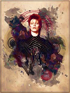 A Gathering That Left Us Too Soon // artwork by Gary Davis, David Mack, Michell Dinan, Arcosart, Robb Nemoman and Archie Snow David Bowie. David Bowie Tribute, David Bowie Art, David Bowie Ziggy, David Bowie Eyes, Major Tom, Rock Posters, Concert Posters, Art Pop, Glam Rock