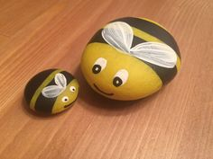 Small Lady bug & bumble bee garden rocks от LilRockShoppe на Etsy