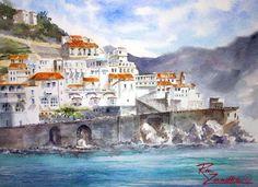 Art of Italy | Amalfi Coast - Italian Paintings by Rita Zaudke