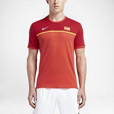 Nike Court AeroReact Rafael Nadal Challenger Mens Tennis Shirt M Red 802209 696 #Nike #ShirtsTops