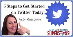 Ready to get started on Twitter?  If you've been following my blog posts and the blab from the other week You know that you're missing out big time if you're not on Twitter!  In this week's post I share 5 Steps to Get Started on Twitter Today so you aren't missing out anymore!  Read more here and get in the game!  Happy Tweeting :-)  Your friendly Twitter Expert Nicole Hanchi http://ift.tt/2bhFLKh