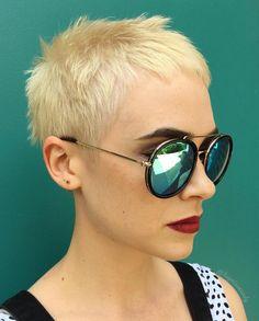 Very Short Spiky Blonde Cut