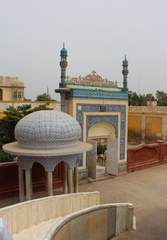 Entrance to Bhong Mosque in Pakistan